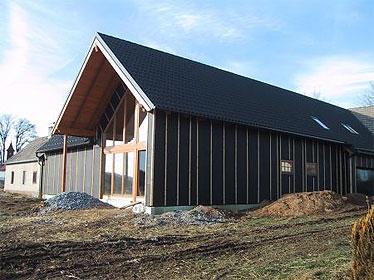 Szalma bála ház Roggenreith / Északkelet