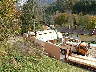 Strohballen-Passivhaus in Lilienfeld, NÖ
