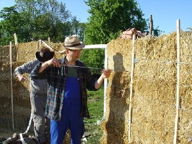Straw Bale Yurt