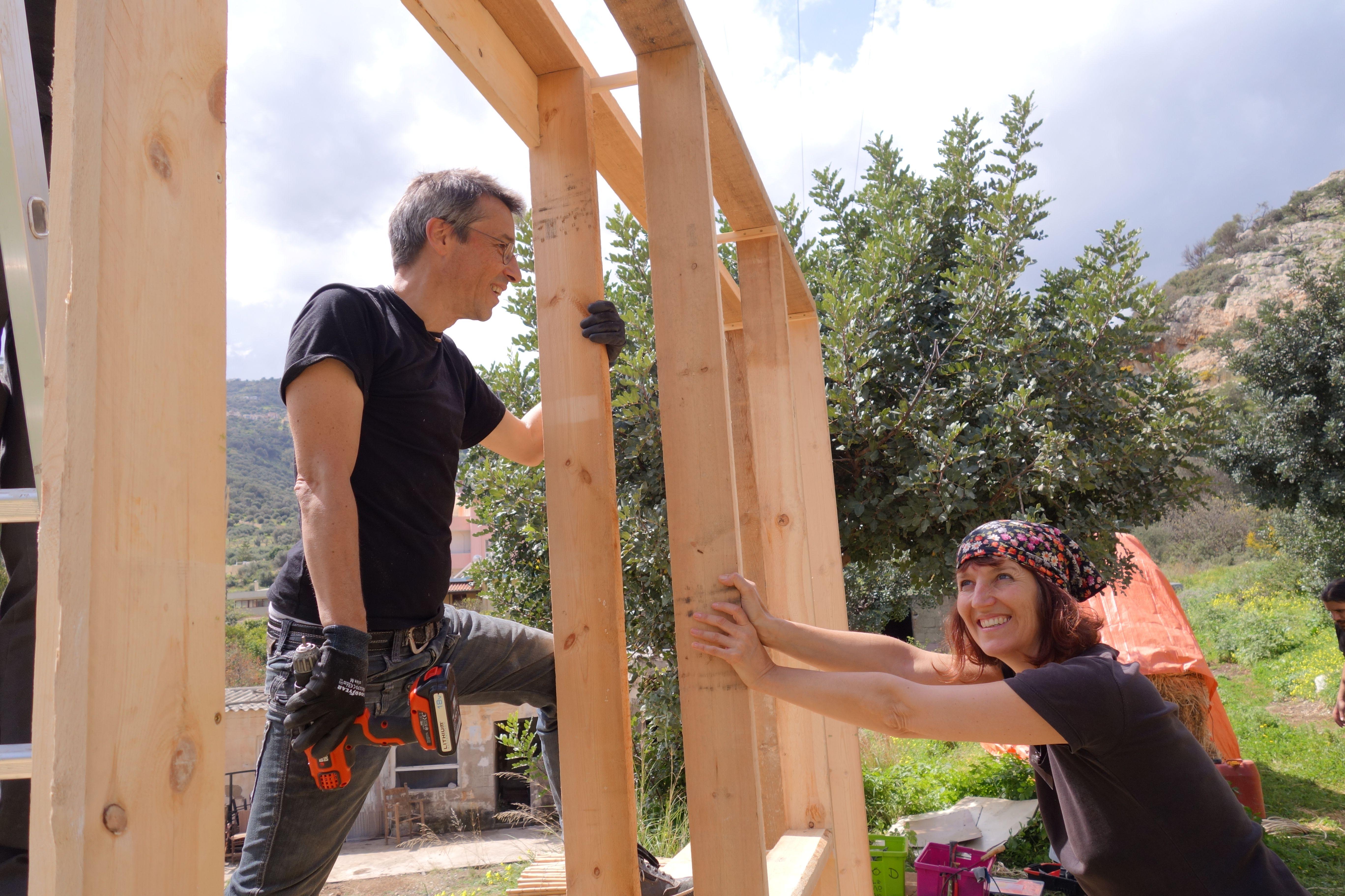 Strohballenbau-Workshop in Kreta