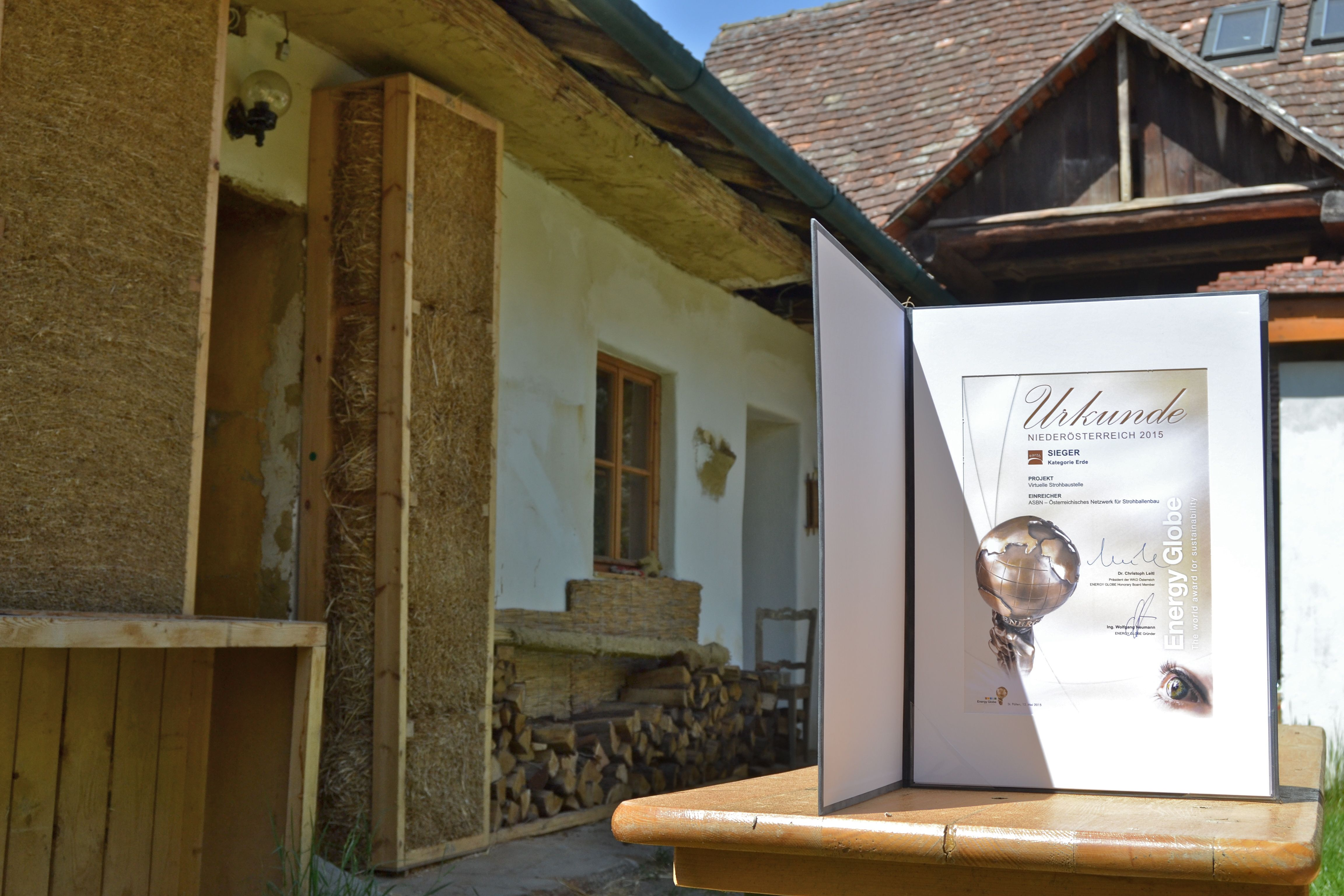 Energy Globe Award für die Virtuelle Baustelle in Ravelsbach