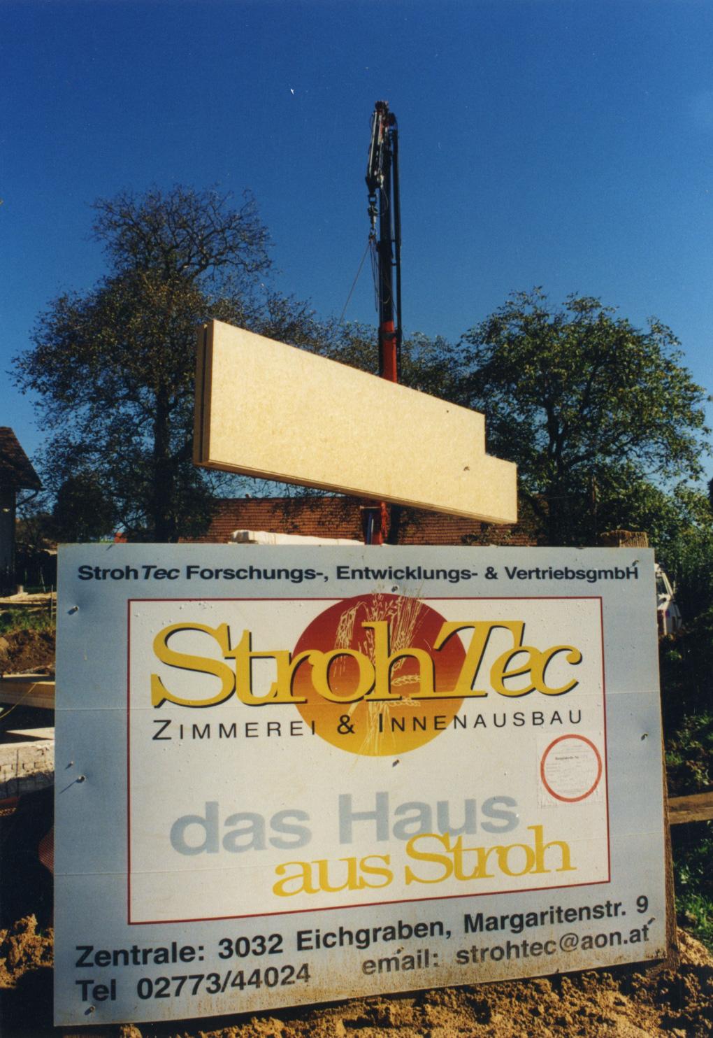 StrohTec wird gegründet. Herbert Gruber ist einer der 9 Gesellschafter.