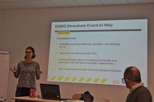 Caroline Daussin talking about ESBG 2015 and 2017.