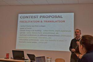 Stefano Soldati presenting the preparations for ESBG 2017