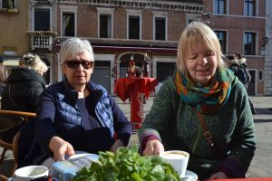 Eileen Sutherland and Sissy Hein in Venice