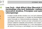 Low Tech – High Effect!