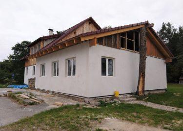 Strohballenhaus Gmünd Infill Wrapping