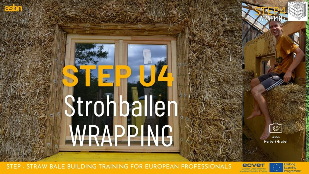 STEP 4 - Strohballen Wrapping